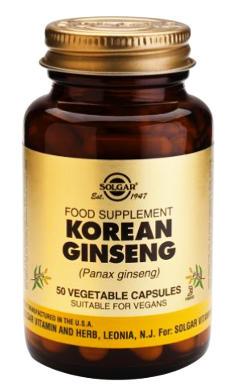 capsulas de ginseng coreano y sus propiedades